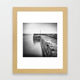Empty harbour Framed Art Print