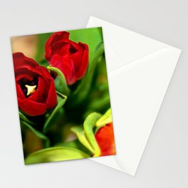rubeum tulips Stationery Cards