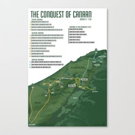 Joshua – The Conquest of Canaan Canvas Print