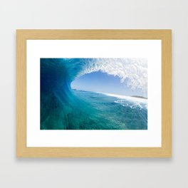 Blue Wave Framed Art Print