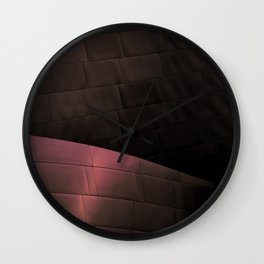 Deep Red architectural abstract of the LA Phil designed by Frank Gehry Wall Clock