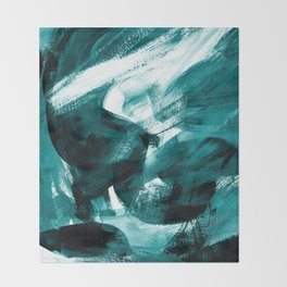 Abstract Artwork Petrol #1 Throw Blanket