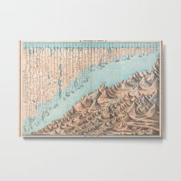 Chart of the World's Mountains and Rivers - Geographicus Metal Print