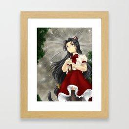 Caught in the Rain Framed Art Print
