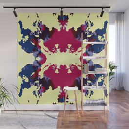 Abstract Colorful Ink Blot Rorschach Wall Mural