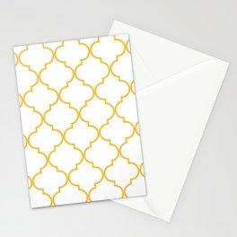 Quatrefoil - Butterscotch yellow Stationery Cards