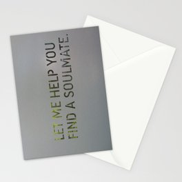 Let me help you soul 4 Stationery Cards
