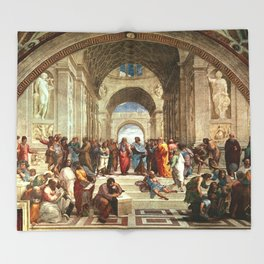 School Of Athens Painting Throw Blanket