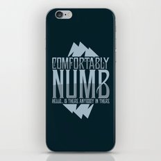 numb black iPhone & iPod Skin