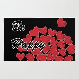 Be happy . Gift .2 Rug