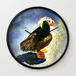 Prince Pippin Puffin Wall Clock