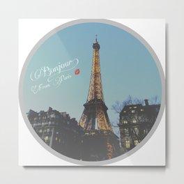 Bonjour! From Paris Metal Print