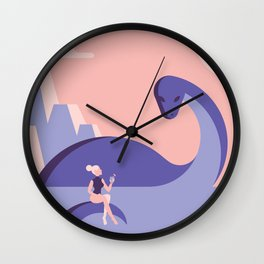 Taking the sun Wall Clock