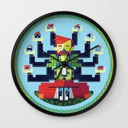Technology Hub Wall Clock