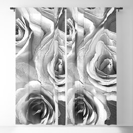 Roses Black and White 2 Blackout Curtain