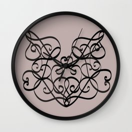 The Pattern Of Music Outline Dark Wall Clock