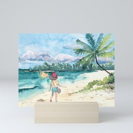 Alola beach Mini Art Print
