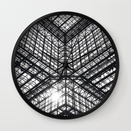 Metal and Glass Wall Clock