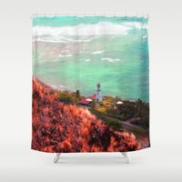 lighthouse Shower Curtains featuring Lighthouse by Kakel-photography