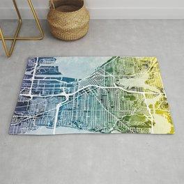 Seattle Washington Street Map Rug