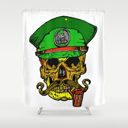 On the Battlefield Shower Curtain