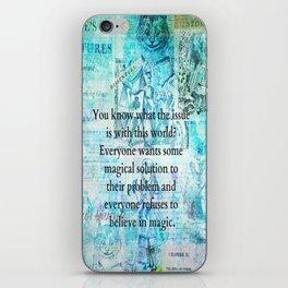 Alice in Wonderland magic quote iPhone Skin