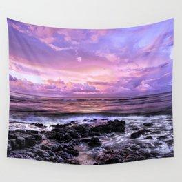 Purple Sunrise, Poipu Beach, Kauai, Hawaii Wall Tapestry