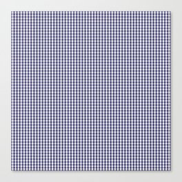 USA Flag Blue and White Gingham Checked Canvas Print