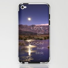 Love you to the moon and back.  Valentine's Day iPhone & iPod Skin