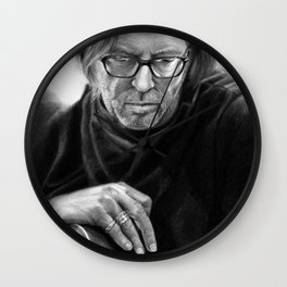 Eric Clapton PENCIL DRAWING Wall Clock