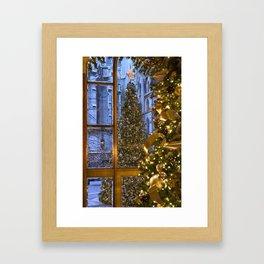 Beautifu christmas tree Framed Art Print