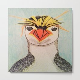 Rock Hopper Penguin Metal Print