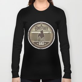 Amstaff Dad - Distressed American Staffordshire Terrier Long Sleeve T-shirt
