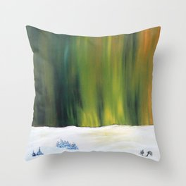 Christmas Night by Gerlinde Throw Pillow