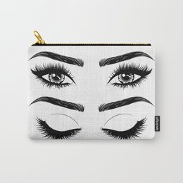 Eyes with long eyelashes and brows Carry-All Pouch