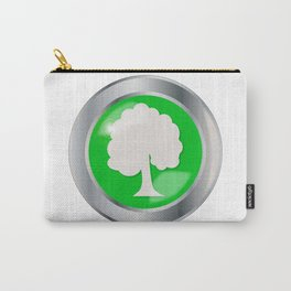 Oak Tree Button Carry-All Pouch
