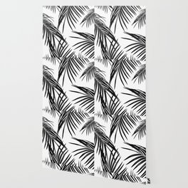 Black Palm Leaves Dream #1 #tropical #decor #art #society6 Wallpaper