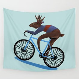 'Tis the season to be cycling Wall Tapestry