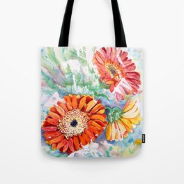 Gerbera Daisy Watercolor Tote Bag