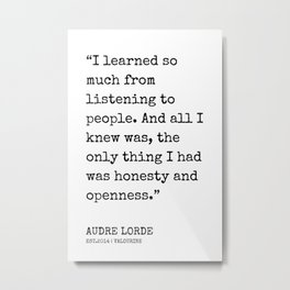 14  | Audre Lorde Quotes | 200607 | Metal Print