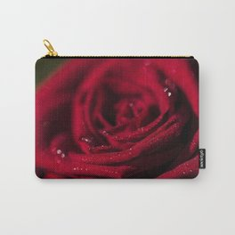Fire - Red - Rose - Roses Flowers Carry-All Pouch