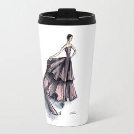 Audrey Hepburn in Pink dress vintage fashion Travel Mug