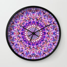 The Purple Flower Kaleidoscope Wall Clock