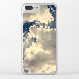 Summer Cloudy Sky Clear iPhone Case