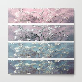 Vincent Van Gogh : Almond Blossoms Panel arT Pastel Pink Blue Teal Metal Print