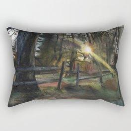 Autumnal Sunset Rectangular Pillow