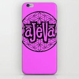 Ajeva Logo Pink iPhone Skin