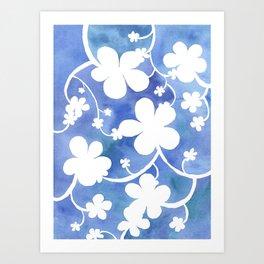 Flowers of snow Art Print