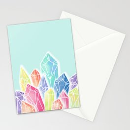 Crystals Green Stationery Cards