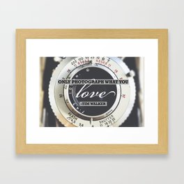 Inspirational Photography Quote Framed Art Print